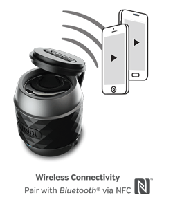 X-Mini WE - conectivitate Bluetooth via NFC